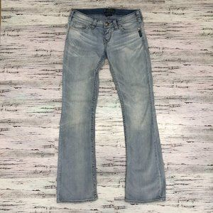 Pioneer Silver Jeans Flare Cut Size 28